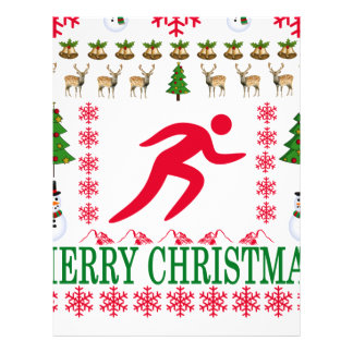 RUNNING MERRY CHRISTMAS . LETTERHEAD