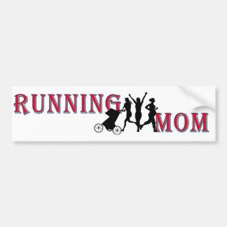 Running Mom Bumper Sticker