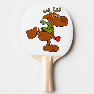 Running moose ping pong paddle