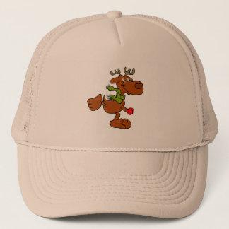 Running moose trucker hat
