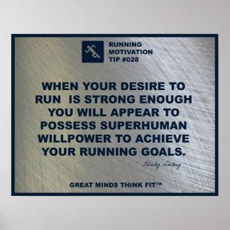 Running Motivation Tip #028 Poster