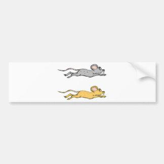 Running Mouse Vector Sketch Bumper Sticker