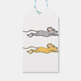 Running Mouse Vector Sketch Gift Tags