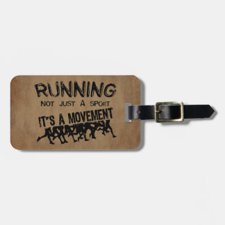 Running Movement Luggage Tag