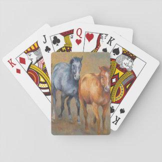 Running mustangs playing cards