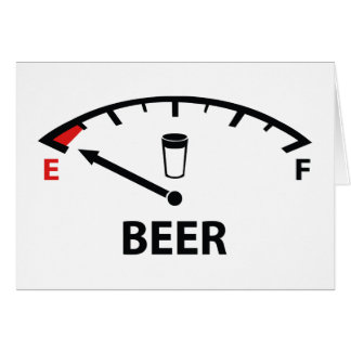 Running On Empty : Beer Card