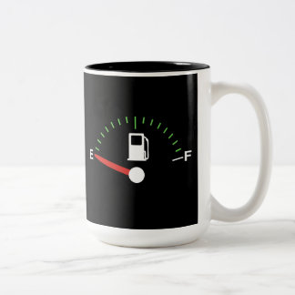 Running on Empty Two-Tone Coffee Mug