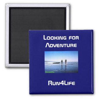 Running on the beach magnet