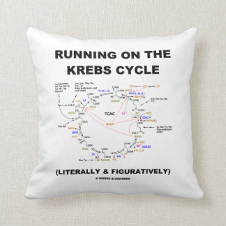 Running On The Krebs Cycle (Science Humor) Throw Pillow