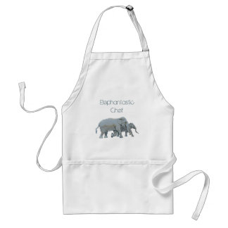 Running Photorealistic Elephants Chef's Standard Apron