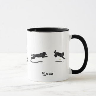 Running Portuguese Water Dog Mug