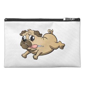 running pug cartoon travel accessories bags