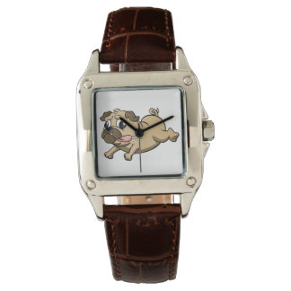 running pug cartoon watch