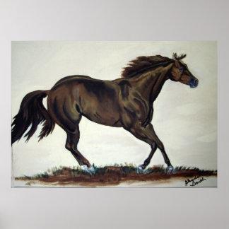 Running Quarter Horse Poster