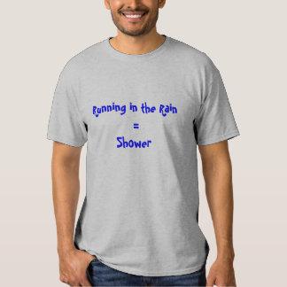 Running Rain Shower Tee Shirts