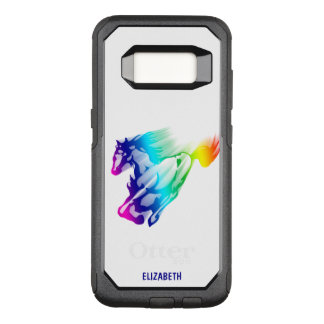 Running Rainbow Horse With Motion Trail OtterBox Commuter Samsung Galaxy S8 Case