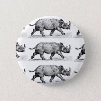 Running Rhinos art 2 Inch Round Button