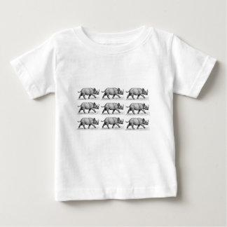 Running Rhinos art Baby T-Shirt