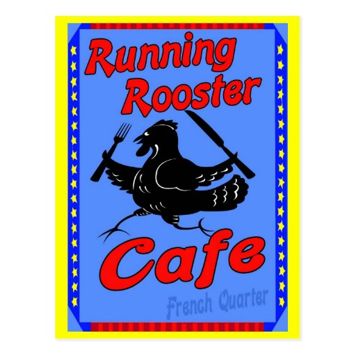 Running Rooster Cafe Postcards