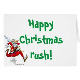 Running santa. card