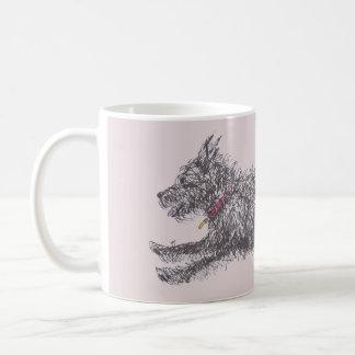 Running Scruffy Black Terrier Mug
