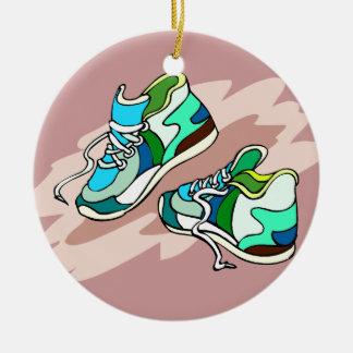 Running Shoes Ceramic Ornament