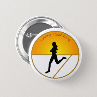 Running Soul Rising 2 Inch Round Button