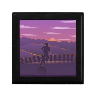 Running sunrise gift box