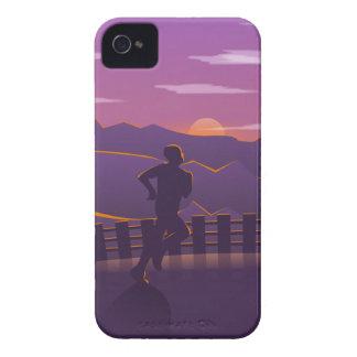 Running sunrise iPhone 4 Case-Mate case