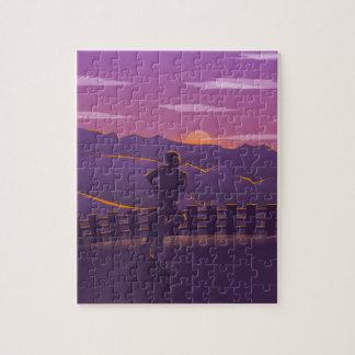 Running sunrise jigsaw puzzle