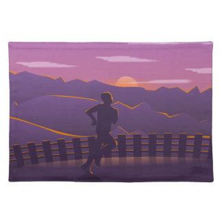 Running sunrise placemat