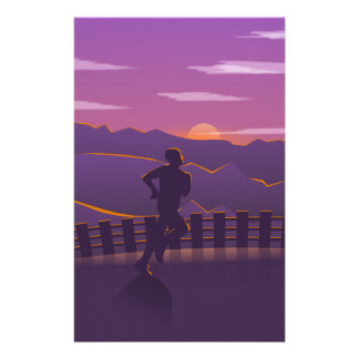 Running sunrise stationery