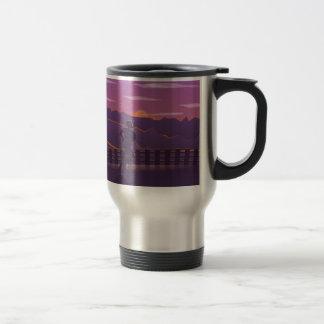 Running sunrise travel mug