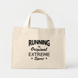 RUNNING, the original extreme sport. (blk) Mini Tote Bag