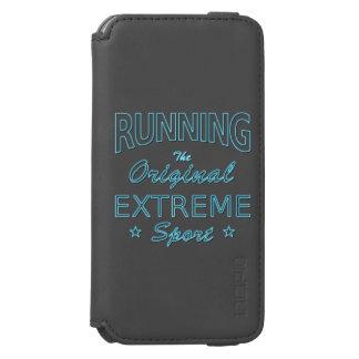 RUNNING, the original extreme sport (blue neon) Incipio Watson™ iPhone 6 Wallet Case