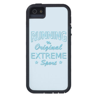 RUNNING, the original extreme sport (blue neon) iPhone 5 Case