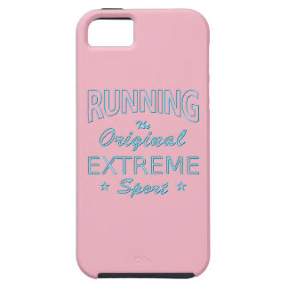 RUNNING, the original extreme sport (blue neon) iPhone 5 Covers