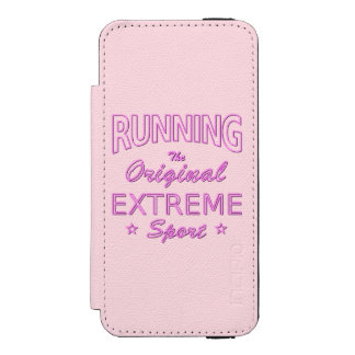 RUNNING, the original extreme sport (pink neon) Incipio Watson™ iPhone 5 Wallet Case