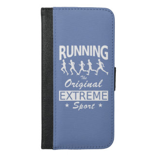 RUNNING, the original extreme sport (wht) iPhone 6/6s Plus Wallet Case