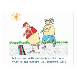 Running the race for Jesus Postcard
