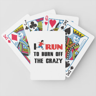 running to burn off the craziness bicycle playing cards