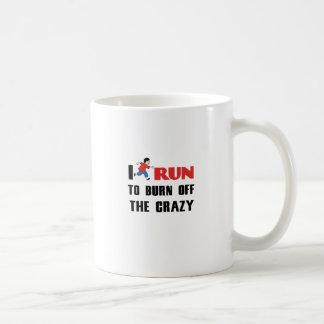 running to burn off the craziness coffee mug