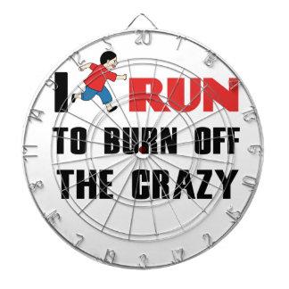 running to burn off the craziness dartboard