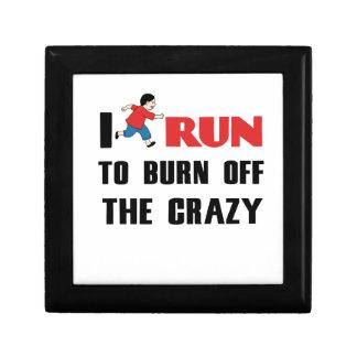 running to burn off the craziness gift box