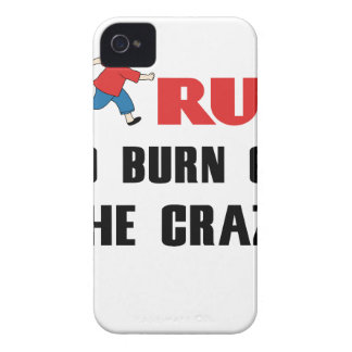 running to burn off the craziness iPhone 4 Case-Mate cases