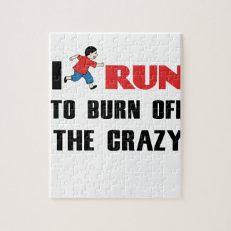 running to burn off the craziness jigsaw puzzle