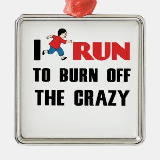 running to burn off the craziness metal ornament