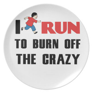 running to burn off the craziness plate