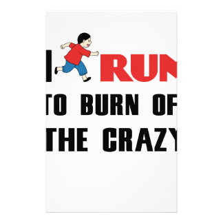 running to burn off the craziness stationery