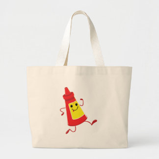 running tomato sauce large tote bag